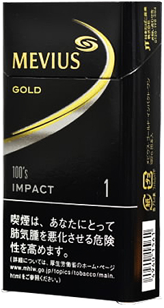 Mevius Gold Impact One 100's slim